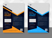 Corporate Business Flyer Template Design Set And Flyer Poster And Leaflets Layout, Fully Editable