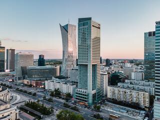 Warszawa - Centrum miasta z lotu ptaka
