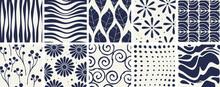 Natural Wavy Monochrome - Seamless Pattern
