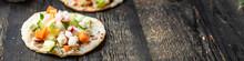 Tacos Vegetable Doner Kebab Flatbread Taco On The Table Healthy Food Meal Snack Copy Space Food Background Rustic. Top View Veggie Vegan Or Vegetarian Food