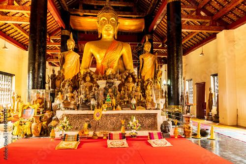 Obraz na plátně Stupa Wat Visoun in Luang Prabang, Laos.