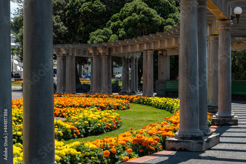 Foto Colonnad Plaza in downtown Napier, New Zealand