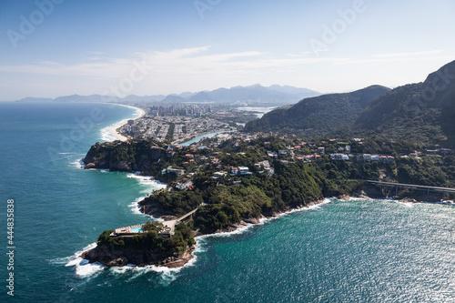 Canvastavla Vista aérea do clube Costa Brava, Joá, Rio de Janeiro, RJ, Brasil