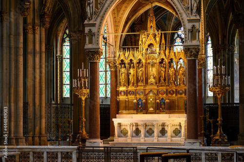 Fotografering The main altar in the Votivkirche – Votive Church, Vienna, Austria