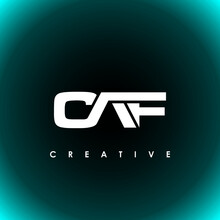 CAF Letter Initial Logo Design Template Vector Illustration