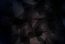 Dark Brown Vector Triangle Mosaic Background.