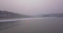 Foggy Scenery In Galigbaga Beach South Goa India - Wide Shot