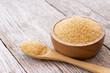 Leinwandbild Motiv brown sugar in a bowl