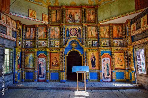 Interior of the Orthodox church in Kostroma Fototapet