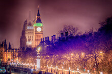 London Houses Of Parliament At Night Big Ben