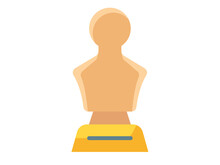 Statue Honor Single Isolated Icon With Flat Style