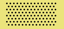 Peg Board With Round Holes. Yellow Rectangle Peg Board Perforated Texture Background For Working Bench Tools. Vector Illustration.