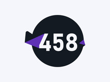 Number 458 Logo Icon Design Vector Image