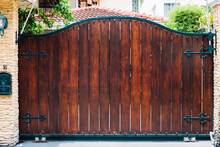 Wood Door House Old Style