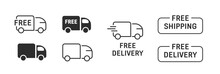 Free Delivery And Shipping Icon Set. Express Transport Web Icon.