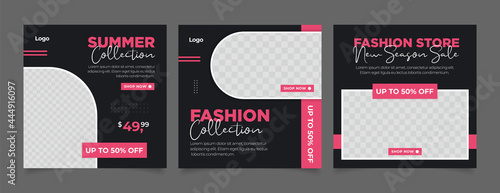 Fotografia Fashion sale social media posts template