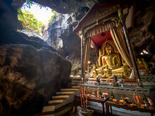 Wat Ban Tham Temple And Cave In Kanchanaburi, Thailand