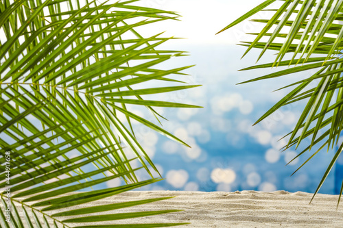 Summer background of sand and free space for your decoration