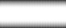Halftone Abstract Frame. Monochrome Texture Made Of Geometric Shapes. A Linear Pattern In  Mosaic Of Polygons. Design Of  Banner,  Poster For  Website,  Frame For Social Networks. Vector Illustration.