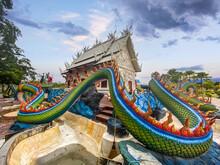 Wat Nong Chap Tao, Turtle And Dragon Temple In Pattaya, Chonburi, Thailand