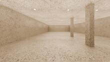 Vintage Terrazzo Concrete And Pillar Round Direct Light Simple 3d Image 4