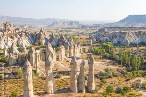 Love valley in Cappadocia Fototapet
