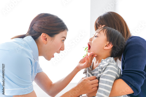Billede på lærred 歯医者さんと子ども