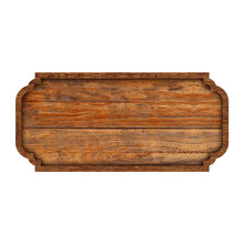 Wooden Sign Boards Or Frame Wood Isolated On White Background. Object With Clipping Path
