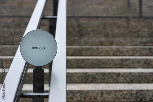 Treppengeländer an einem shopping center Fototapet