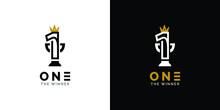 One Logo Design. The Winner Brand Design Concept.