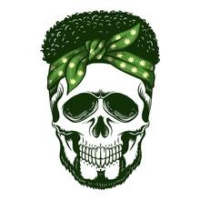 Skull Bandana Vector Illustration