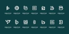 Set Of Various B Logo Template Design Inspiration.