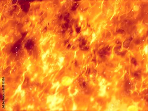 Obraz na plátně 燃え上がる炎の背景