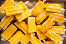 Mango Lassi Popsciles Stacked Together