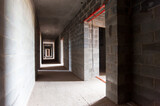 concrete walls of a new monolithic house under construction