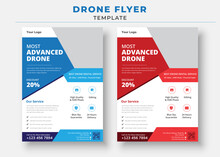 Drone Flyer Template, Drone Services Business Flyer, Drone Rent Flyer
