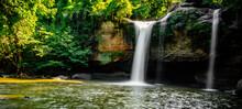 Haew Suwat Waterfall In Khao Yai National Park In Nakhon Ratchasima, Thailand