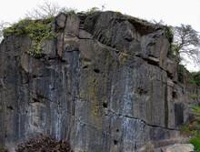Eine Alte Felswand Verleiht Ein Gutes Gefühl Mit Viel Atmosphäre