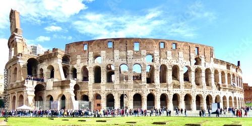 Canvastavla Italy, Rome, coliseum, people, tourists