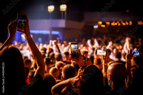 Fotografie, Obraz Smartphones on a music concert.