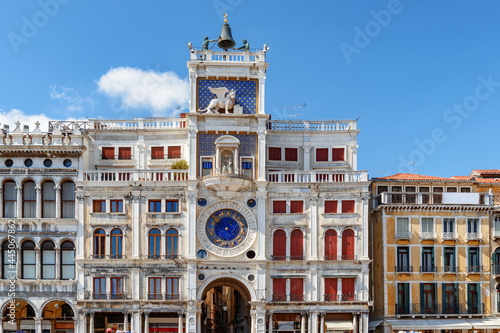 The Clock Tower on the Piazza San Marco in Venice Fototapet