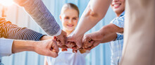 Panoramic Teamwork,empathy,partnership And Social Connection In Business Join Hand Together Concept.Hand Of Diverse People Connecting.Power Of Volunteer Charity Work, Stack Of People Hand.