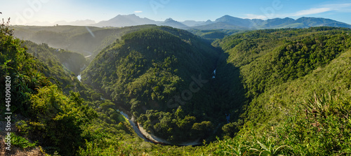 """Fotografia, Obraz """"Map or Africa"""" view site where the Kaaimans River Gorge forms the shape of Africa"""