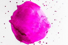 Watercolor Pink Brush Stroke Concept Strain Abstract Background