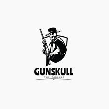 Skull Sheriff Cowboy With Riffle Gun