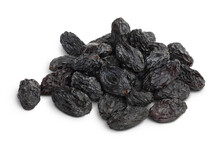 Yellow Raisins Isolated On White Background With Clipping Path And Full Depth Of Field