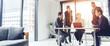 Leinwandbild Motiv Global business concept. Multinational businessperson in the office. Diversity.