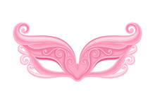 Pink Mask As Party Birthday Photo Booth Prop Vector Illustration