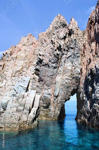 Réserve naturelle de Scandola, osani (Patrimoine mondial UNESCO). Corse-du-Sud