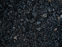 Natural Charcoal Texture In The Middle Of The Field